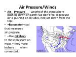 Air Pressure/Winds