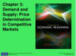 Chapter 3: Demand and Supply: Price Determination in Competitive Markets