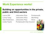 Work Experience works!