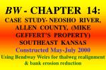 Neosho River Project Specifications