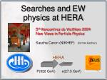 Searches and EW physics at HERA