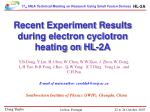 Recent Experiment Results during electron cyclotron heating on HL-2A