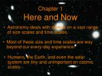 Chapter 1 Here and Now