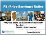 PE (Price-Earnings) Ratios