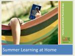 Summer Learning at Home