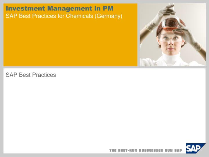 investment management in pm sap best practices for chemicals germany n.
