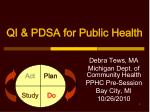 QI & PDSA for Public Health