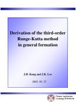Derivation of the third-order Runge-Kutta method in general formation