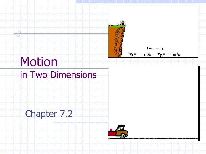 motion in two dimensions n.