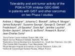 Tolerability and anti-tumor activity of the PI3K/mTOR inhibitor GDC-0980