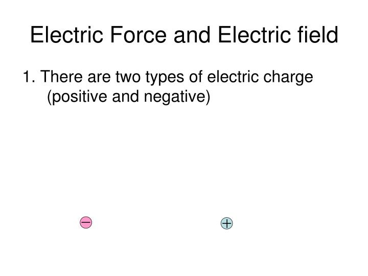 electric force and electric field n.