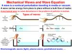 Mechanical Waves and Wave Equation