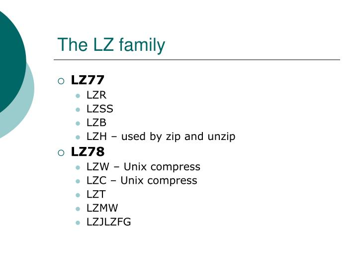 PPT - The LZ family PowerPoint Presentation - ID:3218782