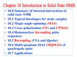 Chapter 18 Introduction to Solid State NMR