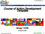 Course of Action Development Template