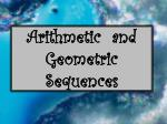 Arithmetic  and Geometric Sequences