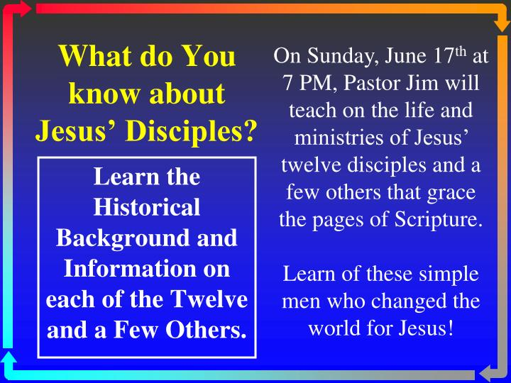 what do you know about jesus disciples n.