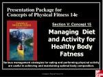 Presentation Package for Concepts of Physical Fitness 14e