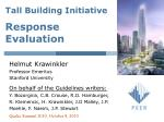 Tall Building Initiative Response Evaluation