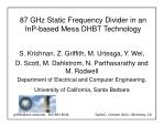 87 GHz Static Frequency Divider in an InP-based Mesa DHBT Technology