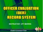OFFICER EVALUATION (OER) RECORD SYSTEM