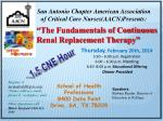 """""""The Fundamentals of Continuous Renal Replacement Therapy"""""""