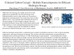 Porous carbon scaffold and coherent nanocomposite