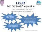"""MFL """"A"""" level Competition"""