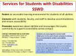 Services for Students with Disabilities SSWD