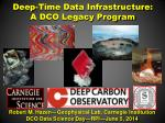 Deep-Time Data Infrastructure:  A DCO Legacy Program
