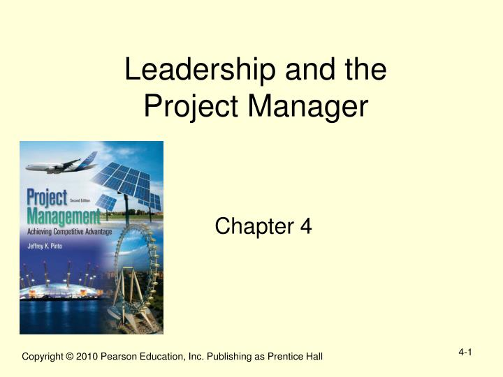 leadership and the project manager n.