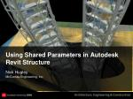 Using Shared Parameters in Autodesk Revit Structure