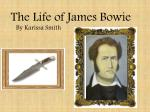 The Life of James Bowie