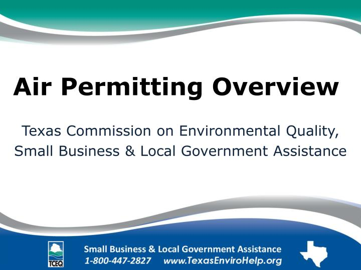 air permitting overview n.