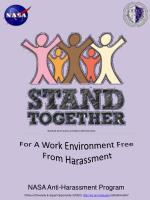 For A Work Environment Free From Harassment
