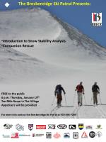 Introduction to Snow Stability Analysis Companion Rescue