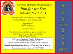 Christian  Motorcyclists  Association Run for the Son Saturday, May 3, 2014