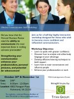 Effective Communication  Skills Workshop