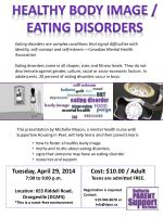 Tuesday, April 29, 2014 7:00 to 9:00 p.m. Location: 655 Riddell Road, Orangeville (DCAFS)