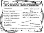 TWO RIVERS TEAM PENNING