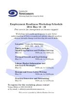 Employment Readiness Workshop Schedule 2014 May 12 - 16
