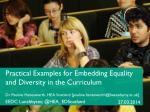 Practical Examples for Embedding Equality and Diversity in the Curriculum