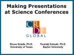 Making Presentations at Science Conferences