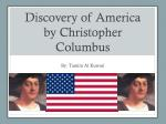 Discovery of America by Christopher Columbus