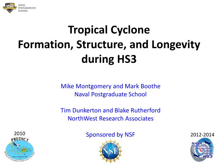 tropical cyclone formation structure and longevity during hs3 n.