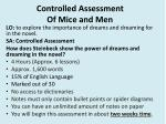 Controlled Assessment Of Mice and Men
