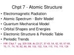 Chpt 7 - Atomic Structure