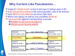 Why Carriers Like Pseudowires…