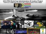 2010 FIFA World Cup Administration Of Justice Project