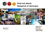 Find out about 			 Research in Germany
